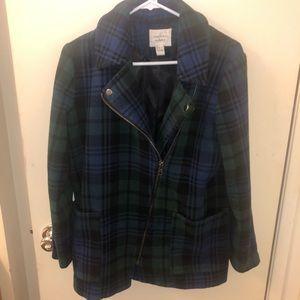 2 toned Plaid Pea Coat